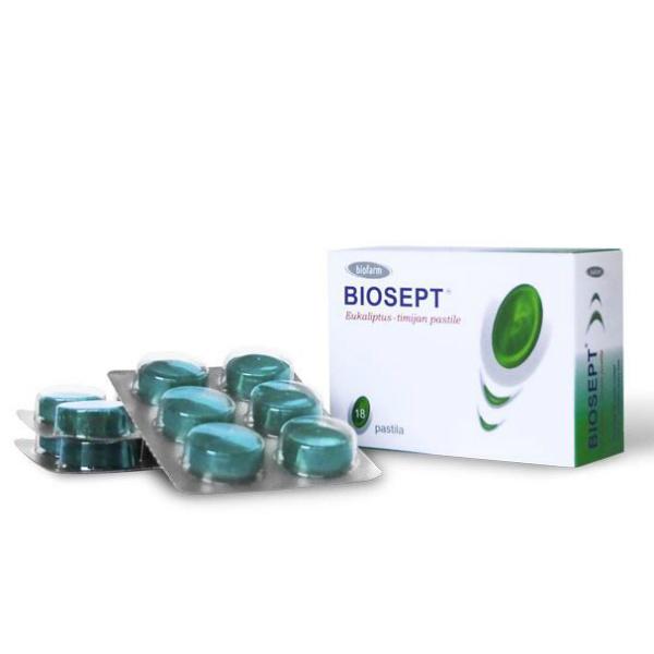 Biosept Pastile Eukaliptus i Timijan - Biofarm