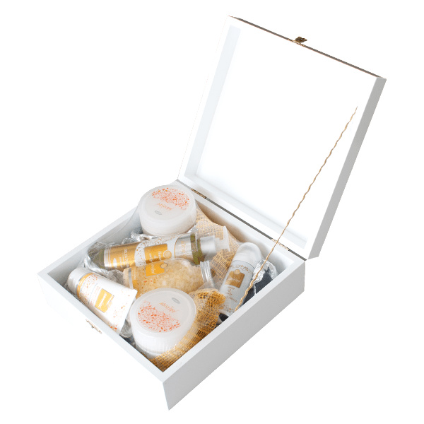 Limun/Smilje - Poklon paket u drvenoj kutiji