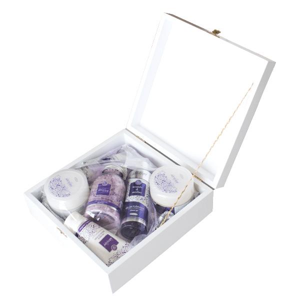 Lavanda/Maslina - Poklon paket u drvenoj kutiji