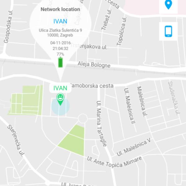 Vergos GPS ogrlica aplikacija