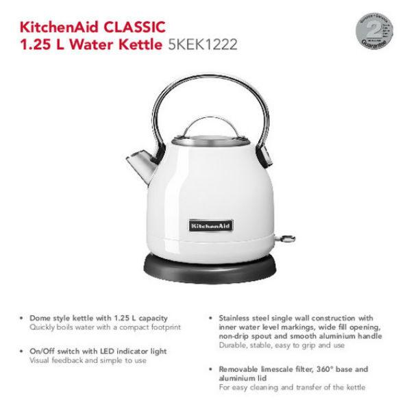 KitchenAid Classic Kuhalo vode