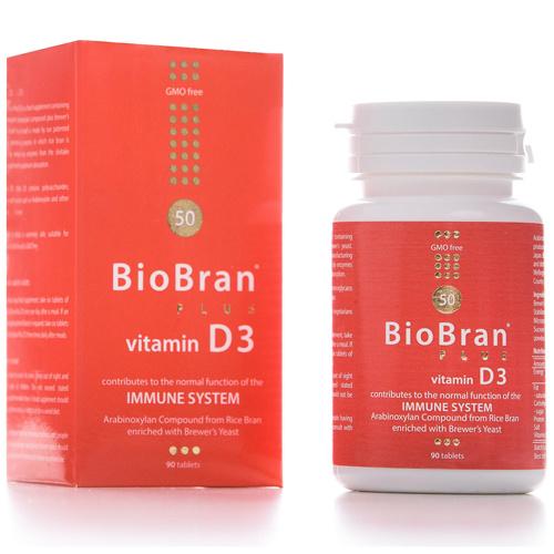 BioBran s vitaminom D3 (90 kapsula)