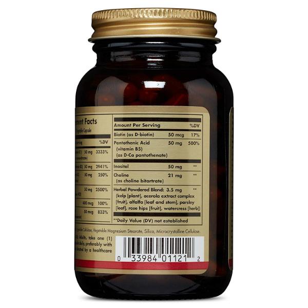 Solgar – B kompleks 50 (100 kapsula)