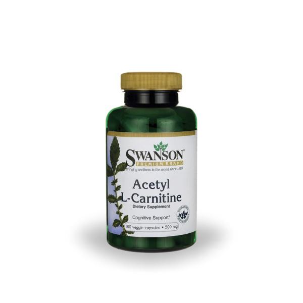 Swanson - Acetil L-karnitin 500 mg (100 kapsula)