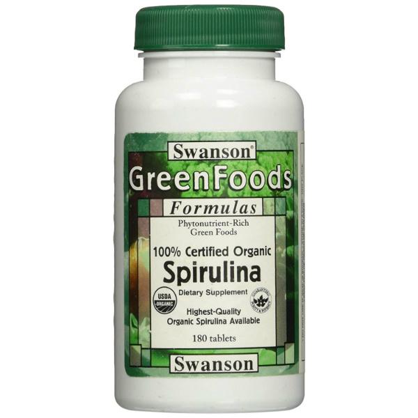 Swanson - Spirulina 500 mg (180 kapsula)