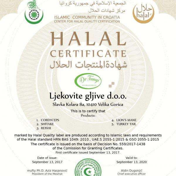 Reishi Halal certifikat